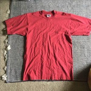 100% Cotton Plain Red T-shirt